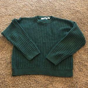 Men's L Green Crewneck Sweater Basix